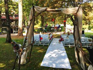 Huwelijk in het bos