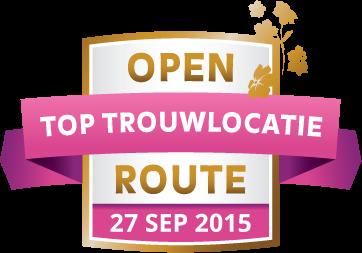 Open top trouw locatie route