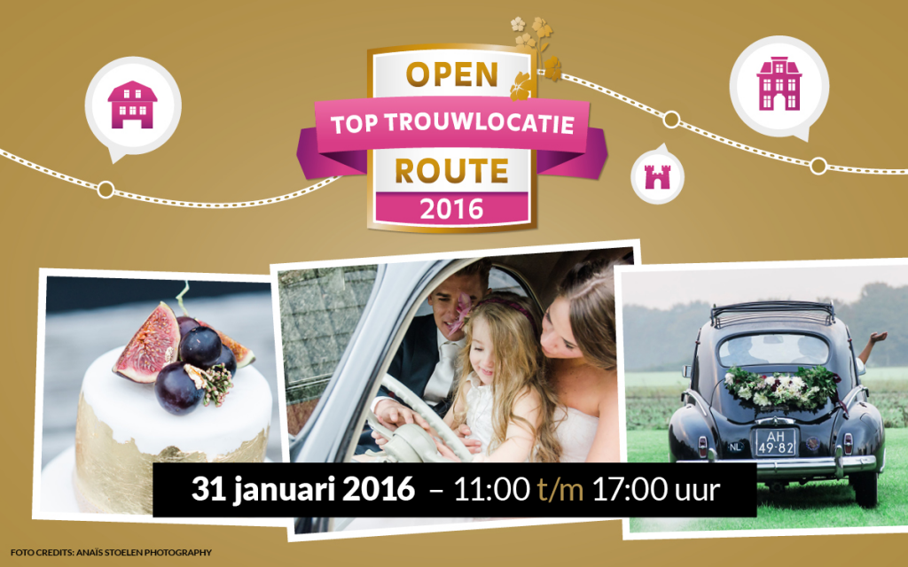 Open trouwlocatie route