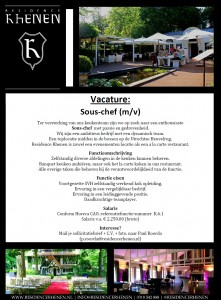 vacature sous chef