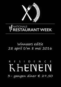 restaurantweek winnaars
