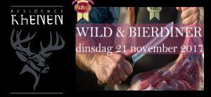 Wild en Bierdiner