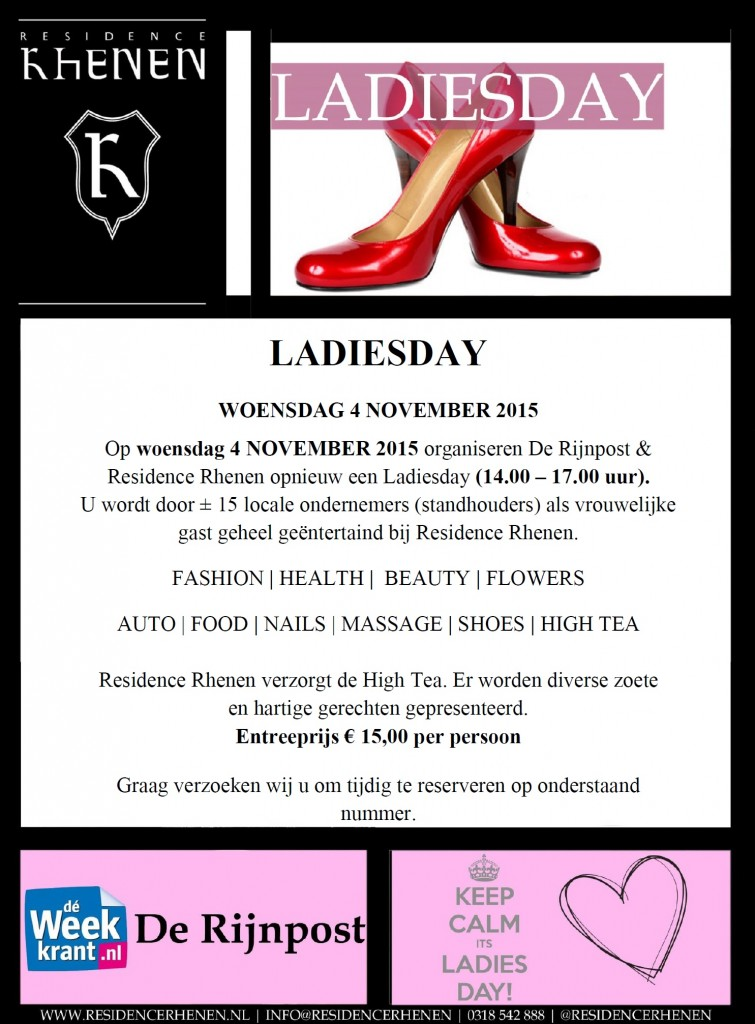 Ladiesday bij Residence Rhenen